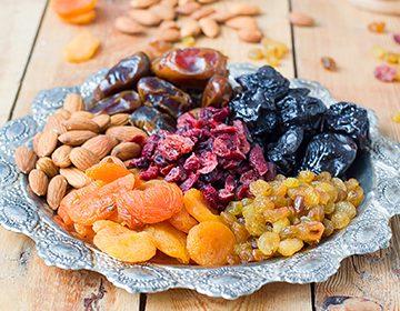 Изгонете молците от сушените плодове