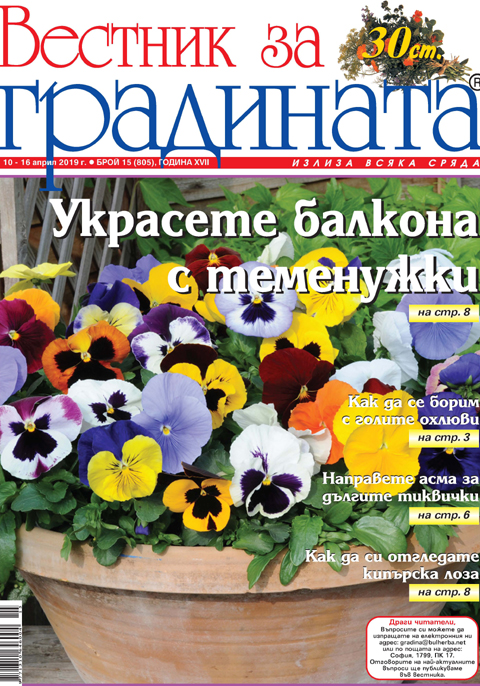 Вестник за градината, бр. 15