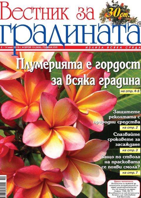 Вестник за градината, бр. 19