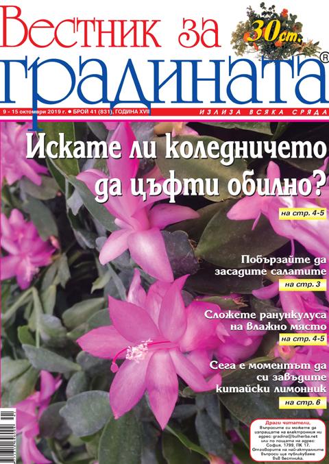 Вестник за градината, бр. 41