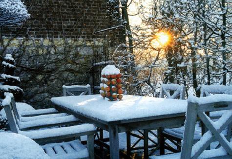Зимна приказка в градината